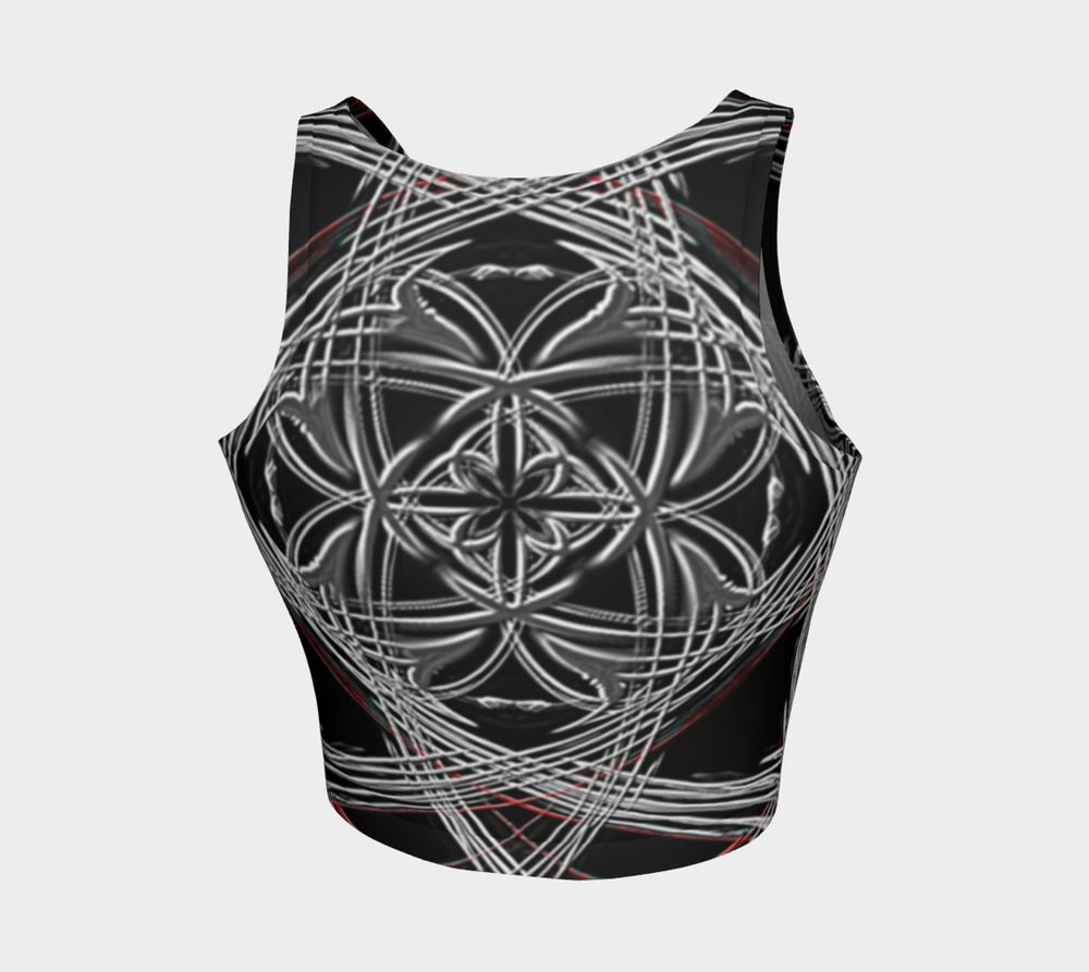 Hatha Zone Black Widow Crop Top-Athletic Crop Top-Hatha Zone
