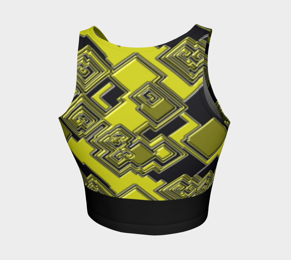 Hatha Zone Brainstorm Crop Top-Athletic Crop Top-Hatha Zone