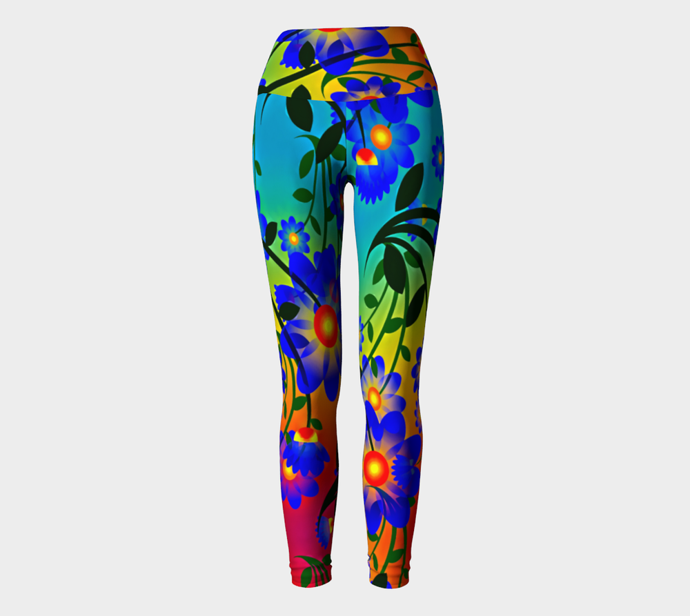 Hatha Zone Summer Day High-Waist Yoga Legging Pant-Yoga Leggings-Hatha Zone