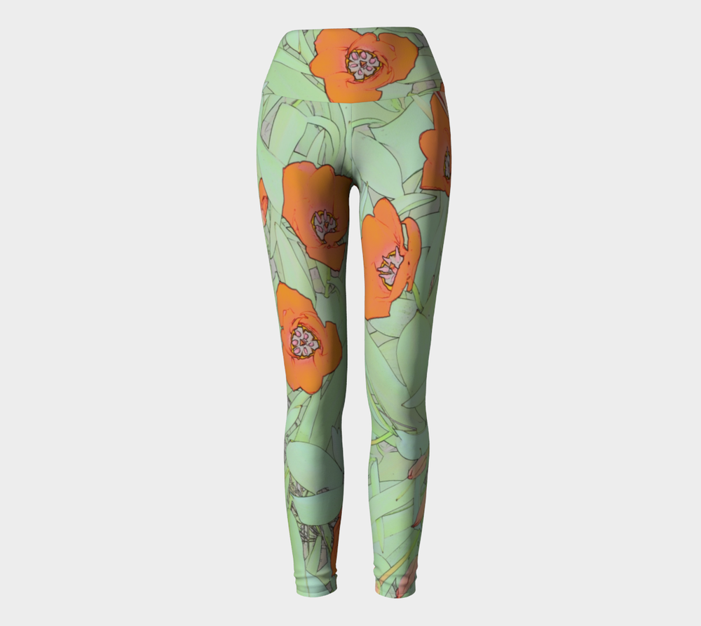 Hatha Zone Blossom High-Waist Yoga Legging Pant-Yoga Leggings-Hatha Zone