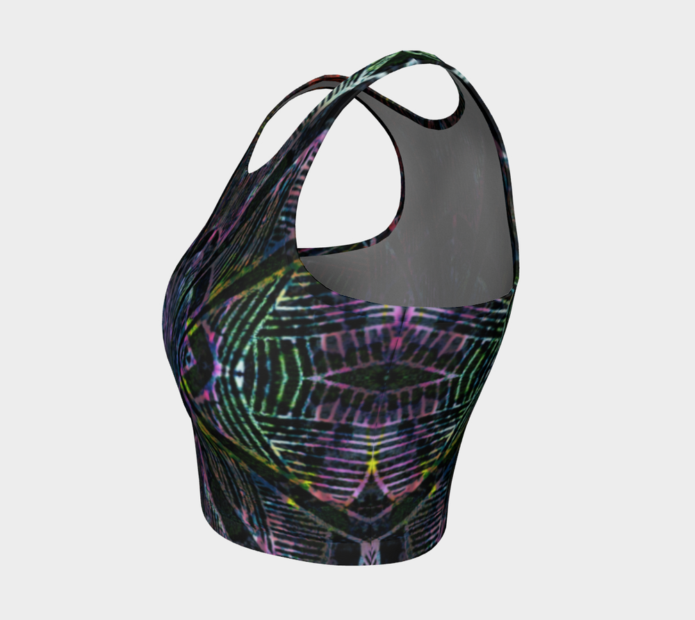 Hatha Zone Stargate Crop Top-Athletic Crop Top-Hatha Zone