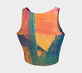 Hatha Zone Smeared Paint Crop Top-Athletic Crop Top-Hatha Zone