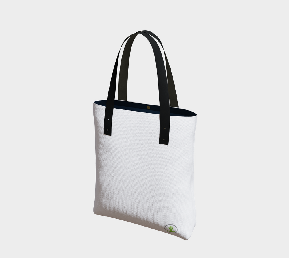Hatha Zone White Tote Bag-Tote Bag-Hatha Zone
