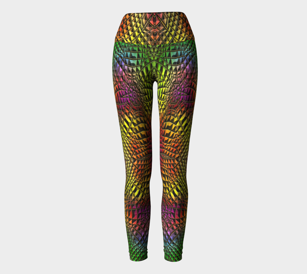 Hatha Zone Technicolor High-Waist Yoga Legging Pant-Yoga Leggings-Hatha Zone