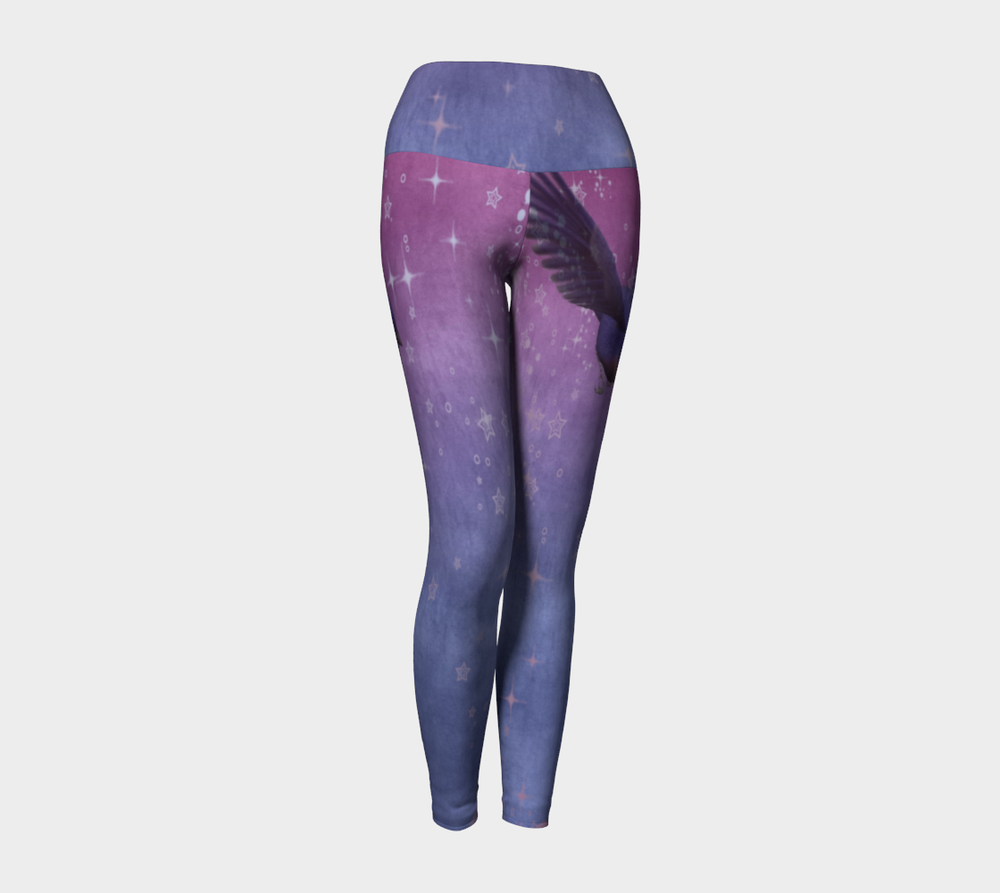 Hatha Zone Wing & A Prayer High-Waist Yoga Legging Pant-Yoga Leggings-Hatha Zone