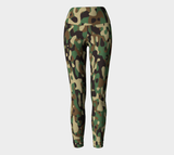 Hatha Zone Camo High-Waist Yoga Legging Pant-Yoga Leggings-Hatha Zone