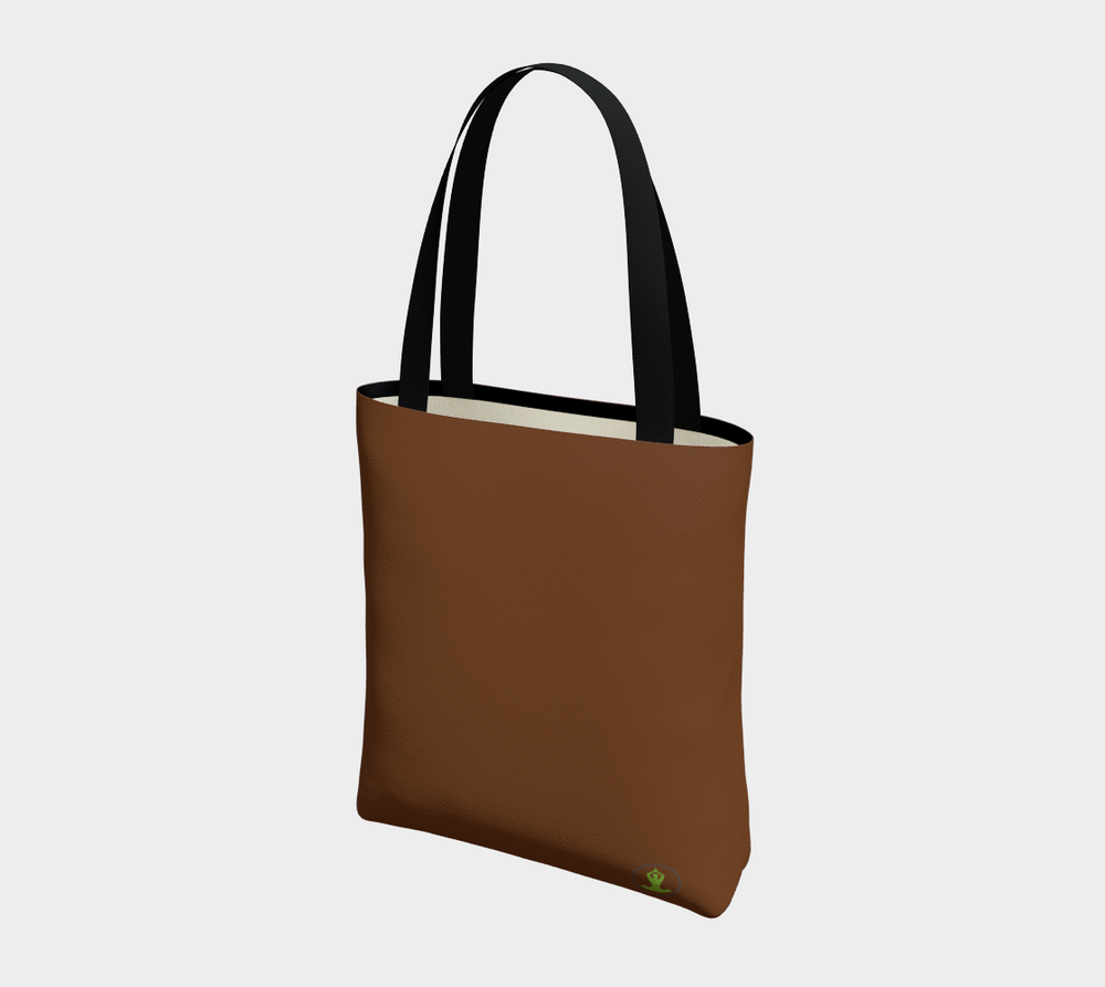 Hatha Zone Brown Tote Bag-Tote Bag-Hatha Zone