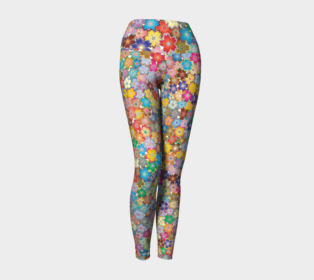 Hatha Zone Fresh Bouquet High-Waist Yoga Legging Pant-Yoga Leggings-Hatha Zone