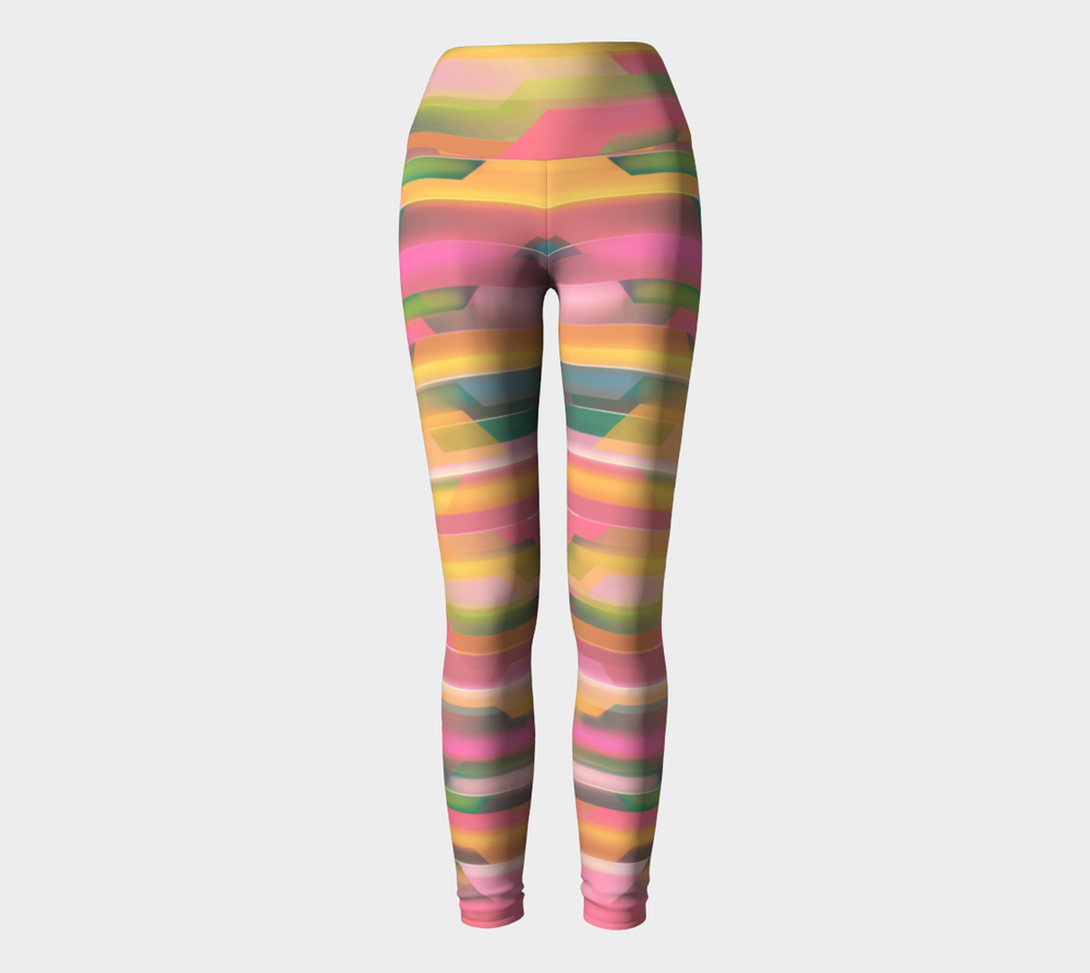 Hatha Zone Beach Dream High-Waist Yoga Legging Pant-Yoga Leggings-Hatha Zone