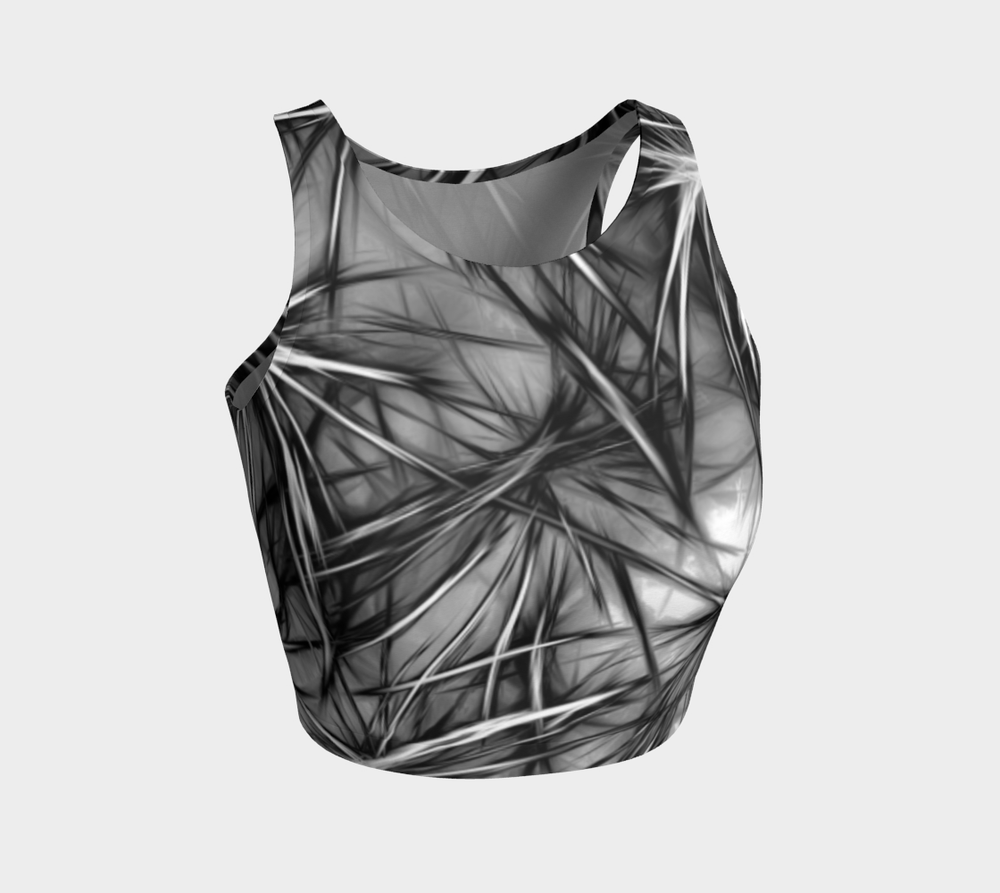Hatha Zone Frost Crop Top-Athletic Crop Top-Hatha Zone