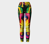 Hatha Zone Rainbow Roses High-Waist Yoga Legging Pant-Yoga Leggings-Hatha Zone