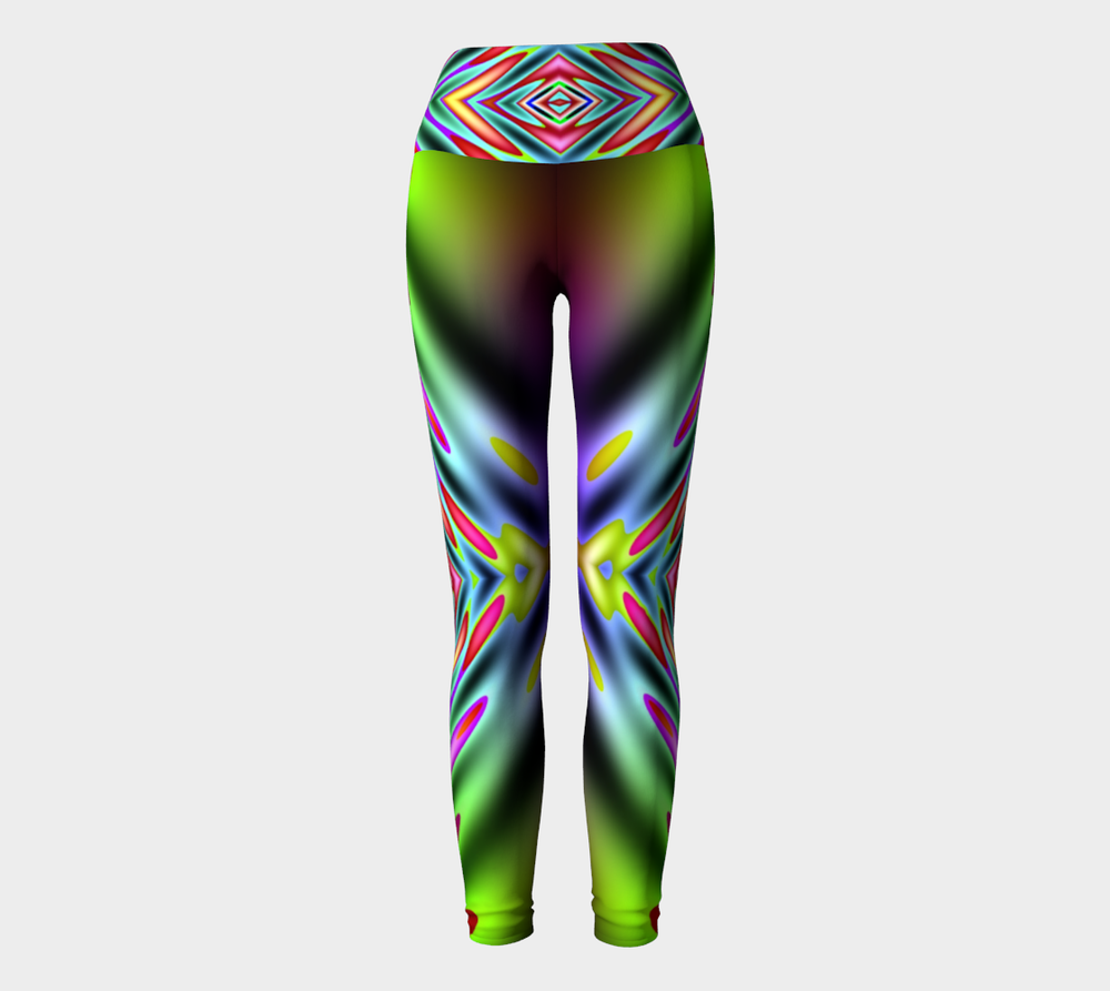 Hatha Zone Iridescent High-Waist Yoga Legging Pant-Yoga Leggings-Hatha Zone
