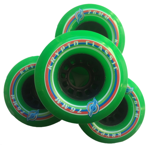 Kryptonics Classic green 76mm Wheels 80a