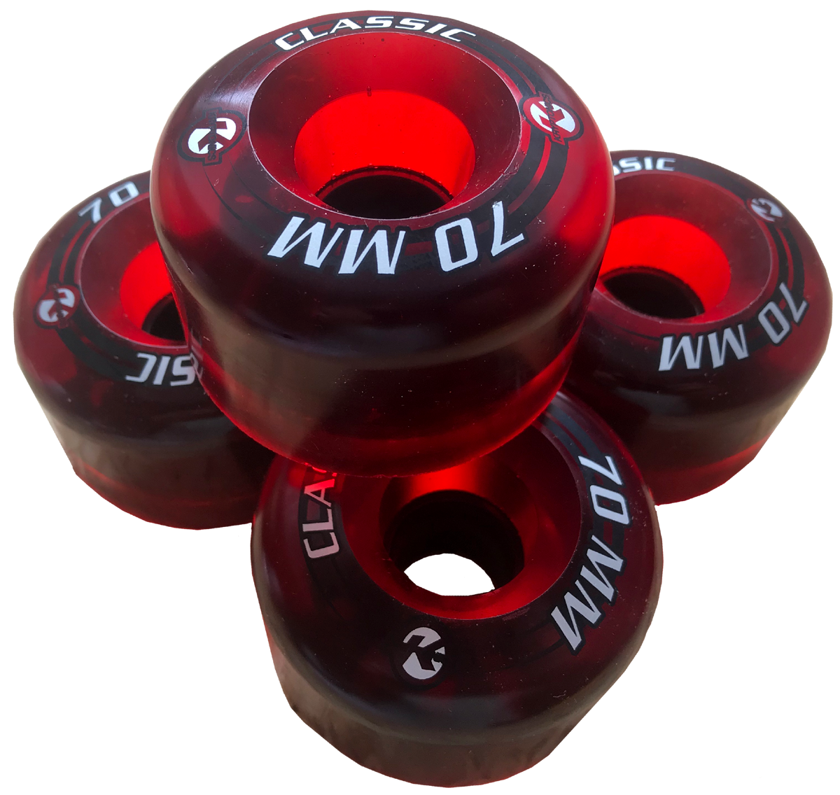 Kryptonics Classic red 70mm wheels 78a