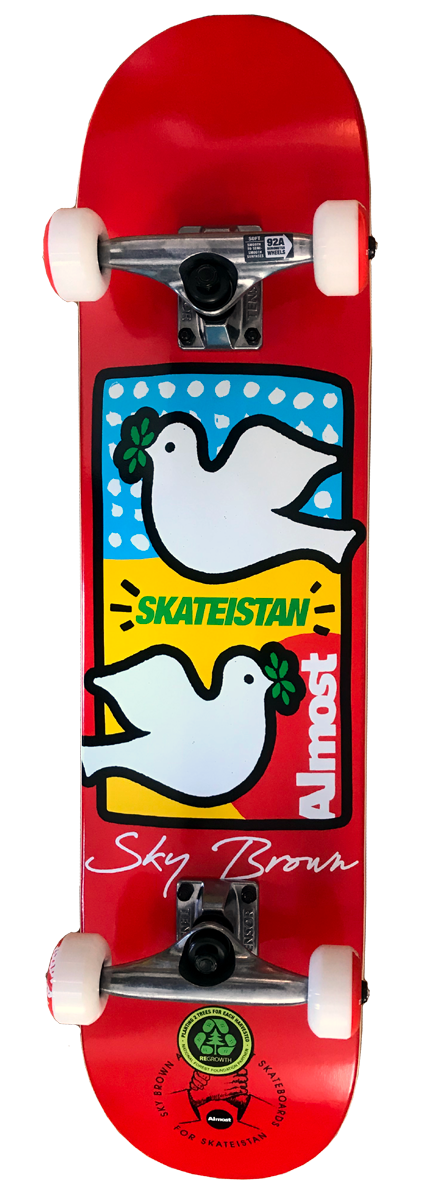 Almost Double Doves Skateistan Komplett Skateboard (7,50 x 29,30)