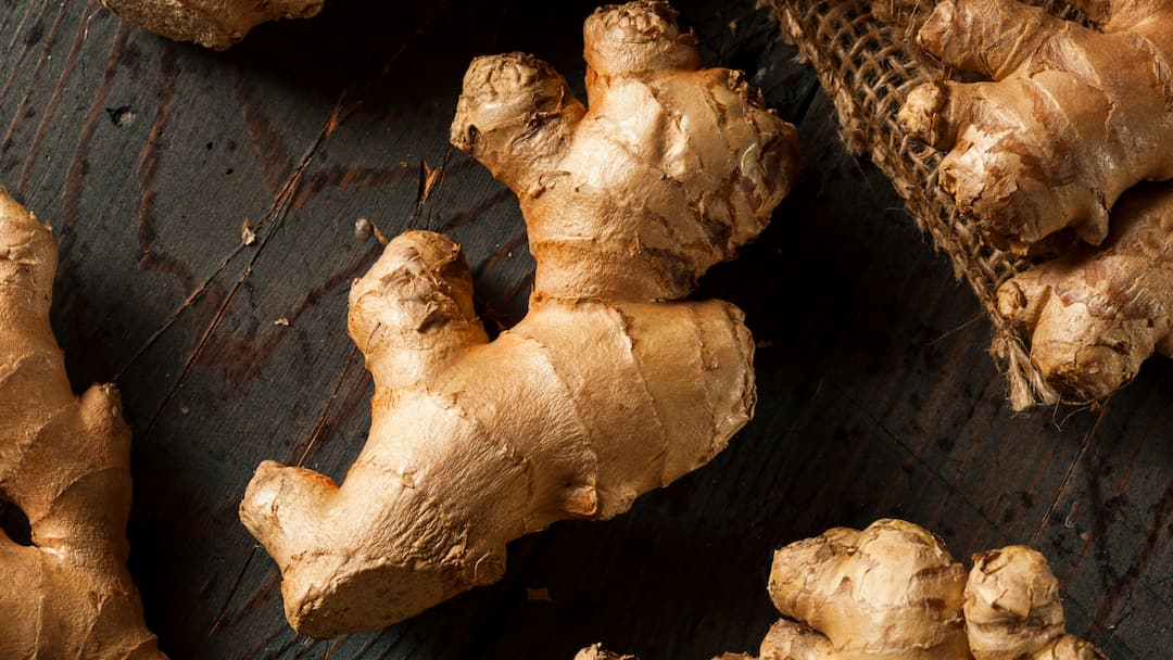 Ginger and skin care