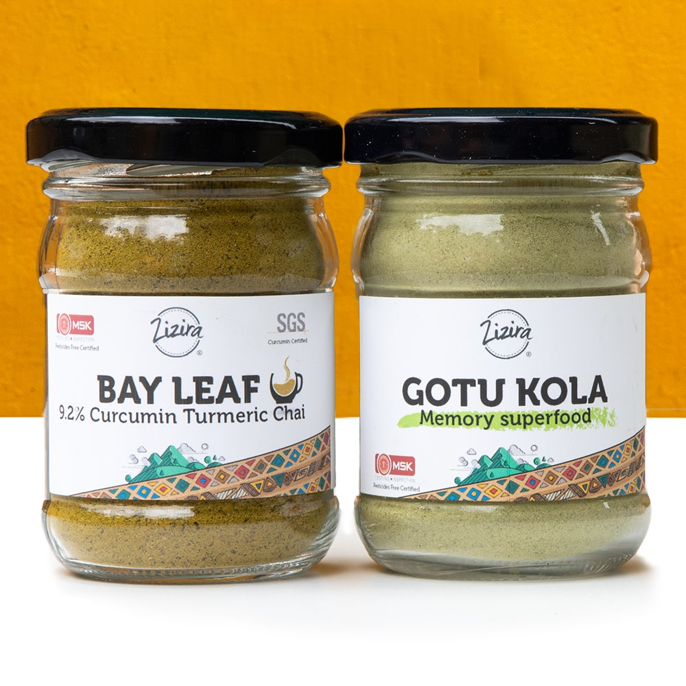Gotu kola bay leaf powder