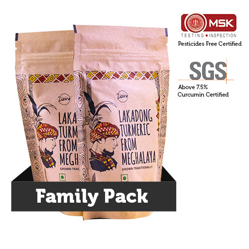 Healthy family pack of lakadong turmeric haldi