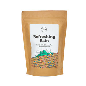 refreshing_rain hand rolled green tea