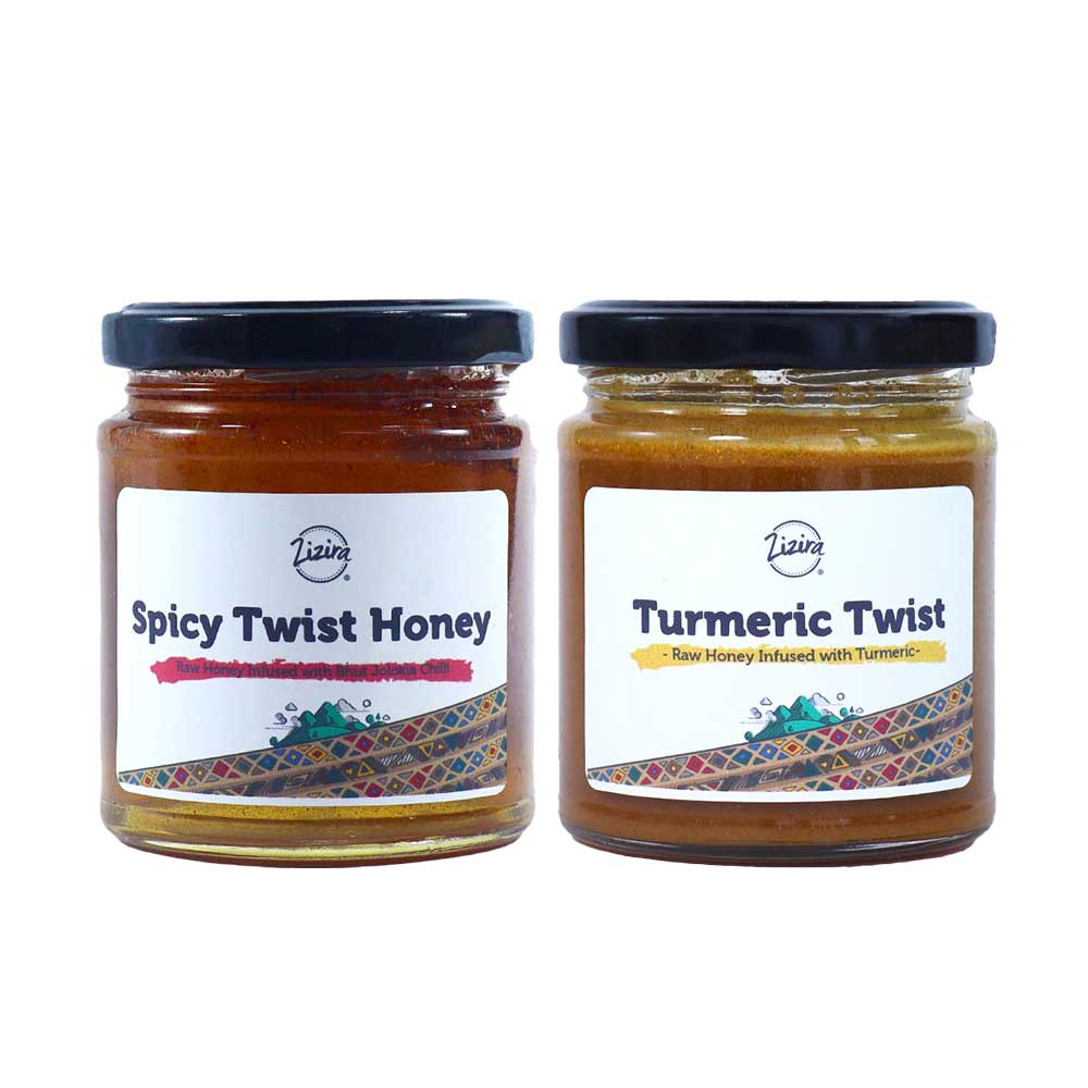 Turmeric Twist Honey 250g and Spicy Twist Honey 250g