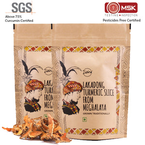 Lakadong Turmeric Slices Combo 200g (Pack of 100g each)