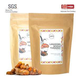 High Curcumin Lakadong Raw & Fresh Whole Turmeric Combo 1kg (Pack of 500g each)