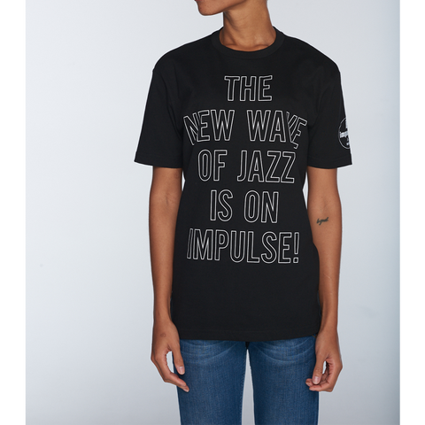 New Wave Front and Side Logo T-Shirt - Black