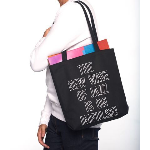 Impulse Tote Black w/ White Lettering
