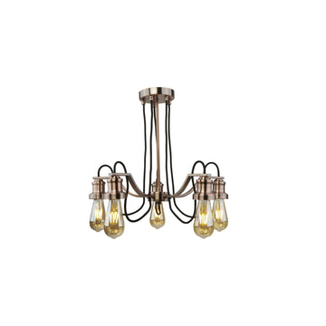 Searchlight 1065-5CU Olivia Antique Copper 5 Light Multi Arm Light