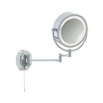 Searchlight 11824 Bathroom Mirror With Extendable Swing Arm Chrome