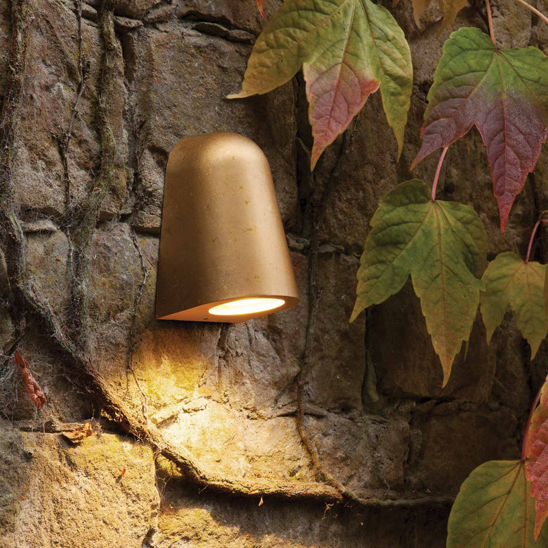 1317005 Mast Coastal Outdoor Wall Light Brass