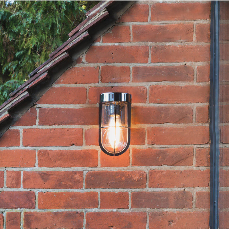 Astro Cabin Outdoor Wall Light Nickel