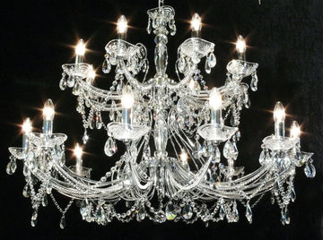 Fantastic Lighting Concerto 1524/12+8(p) 20 Light 2 Tiered Multi Arm Chandelier