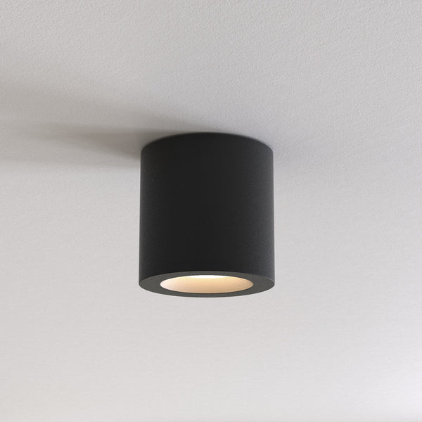 1326040 Kos II Round Outdoor Wall Light Black