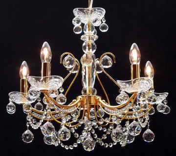 Fantastic Lighting Concerto B-1525/5 5 Light Crystal Multi Arm Chandelier - French Gold