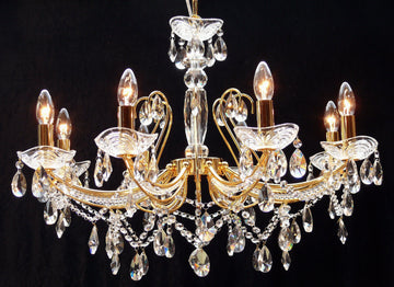 Fantastic Lighting Concerto P-1525/8 8 Light Multi Arm Crystal Chandelier - French Gold