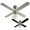 "MiniSun 19497 Mirage Silver Grey / Black 42"" Ceiling Fan with Opal Glass - SND Electrical Ltd"