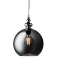 Searchlight 2020SM Indiana Chrome Smoked Glass Single Pendant