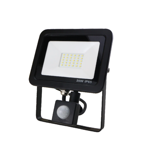 SND Electrical 20w Floodlight 3000k Black (PIR) - SND Electrical Ltd