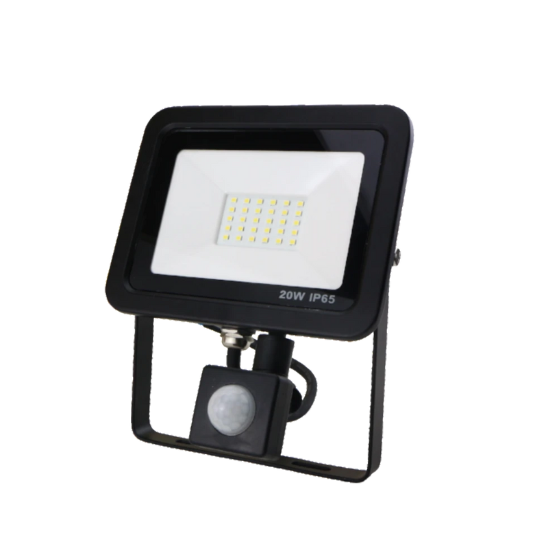 SND Electrical FLSMD20W/PIRO/3K/B -4 20w Floodlight 3000k Black (PIR) - SND Electrical Ltd