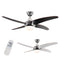 "MiniSun 21796 Apache Chrome / Wood 48"" Ceiling Fan With Remote Control - SND Electrical Ltd"