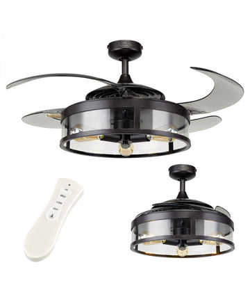 "MiniSun 22567 Fanaway Classic 48"" Antique Black Ceiling Fan Remote"