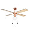 "MiniSun 24350 Nimrod Copper 42"" Ceiling Fan With 1 Light - SND Electrical Ltd"