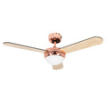 "MiniSun 24351 Taurus Copper 42"" Ceiling Fan With Remote Control"