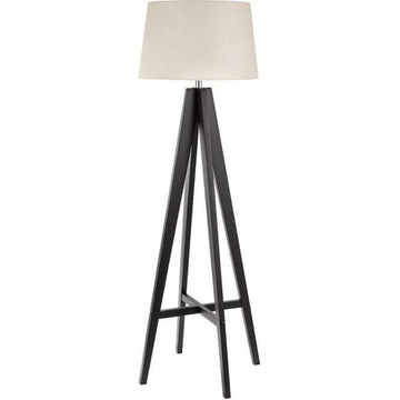 Searchlight 3540BR Easel Tripod Dark Wood Floor Lamp