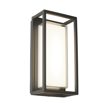 Searchlight 3831GY Bel Aire Aluminium Black Outdoor Wall Light