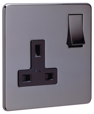 Crabtree Platinum 7314-BKN 1 Gang Socket Black Nickel - SND Electrical Ltd