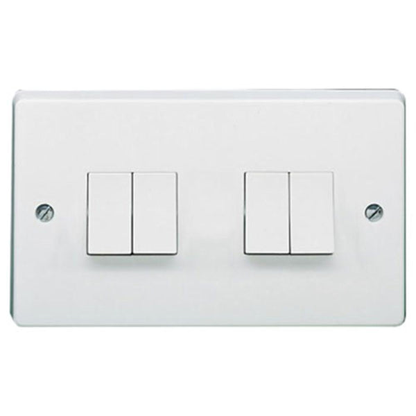 Crabtree Capital 4174 10Ax 4 Gang 2 Way Switch - SND Electrical Ltd
