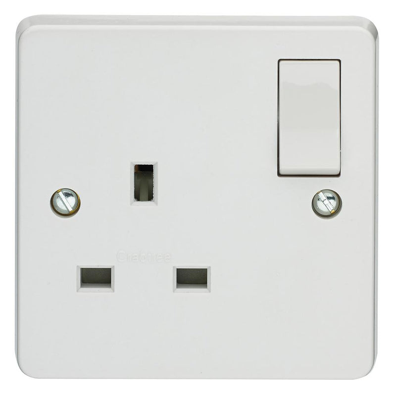 Crabtree Capital 4304/D 13A 1 Gang Dp Switched Socket - SND Electrical Ltd