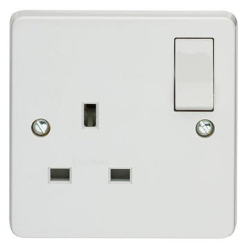 13A 1 Gang Switched Socket Crabtree Capital